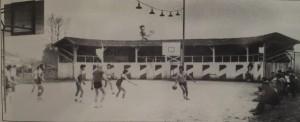 match basket dans les arènes Aurice source landesbasketoctobre1981