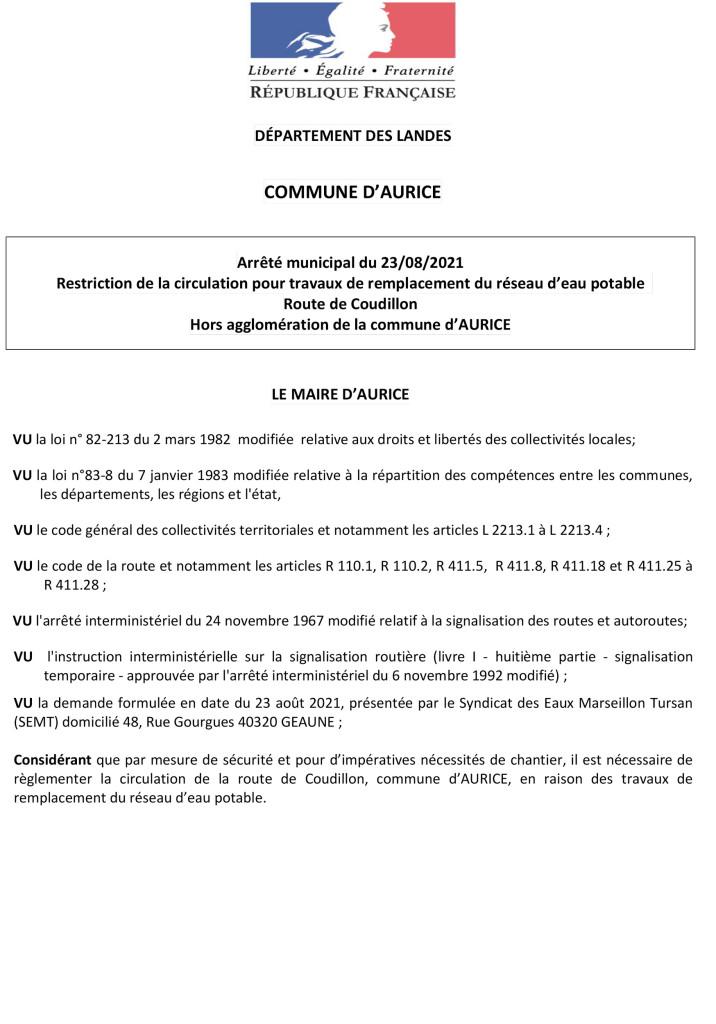 20210823_13-Arrêté-circulation-SEMT-(Rte-de-Coudillon)---Remplacement-réseau-AEP-1